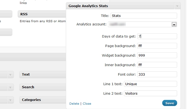 widget analytics