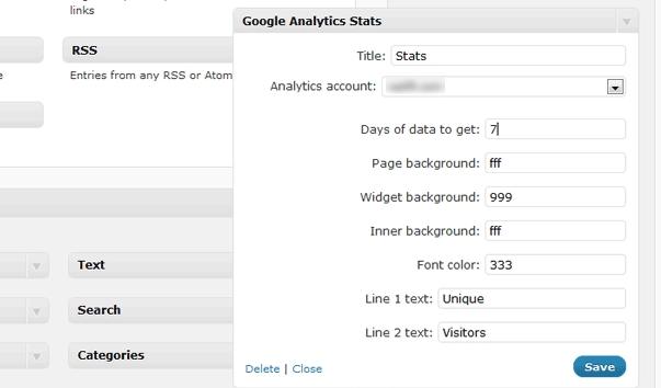 widget analytics