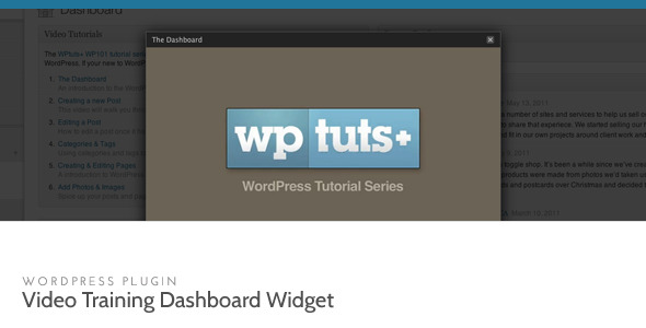 wordpress video dashboard