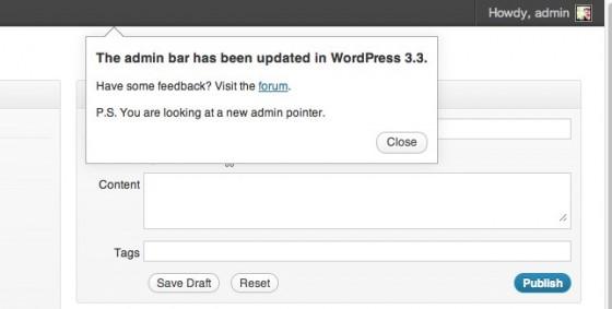 wp 3.3 admin bar
