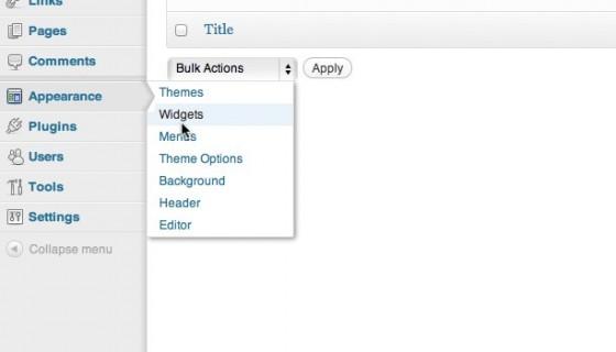 wp 3.3 admin menu