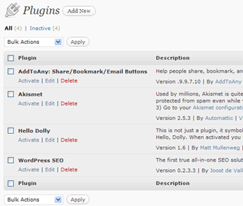 ativar plugins automaticamente