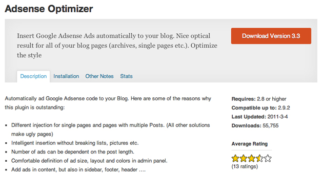 adsense optimizer