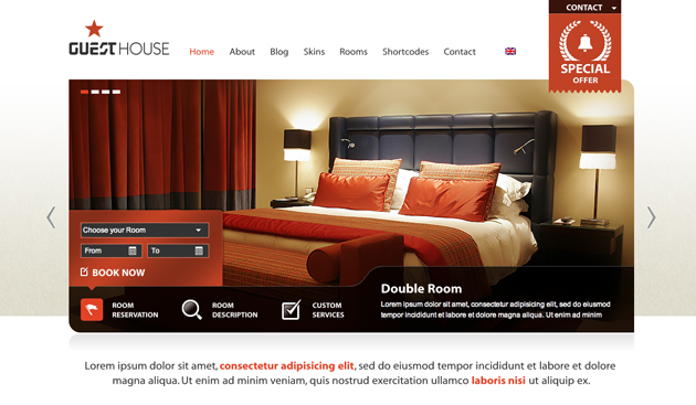 guest house template