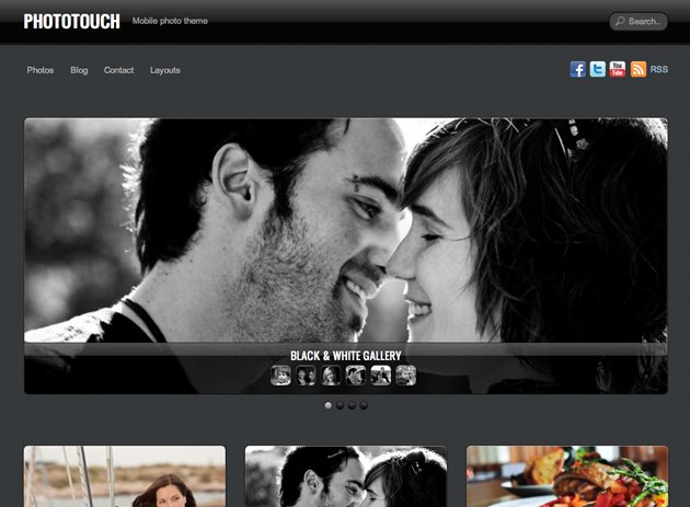 photo touch template