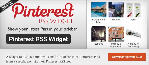 pinterest rss widget