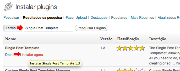 Como criar templates diferentes para single posts e for Wordpress single post page template