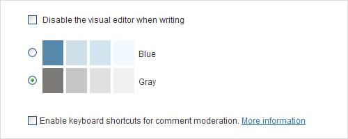 opção cores