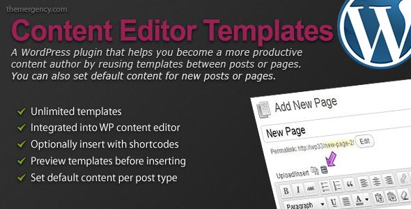 content editor templates