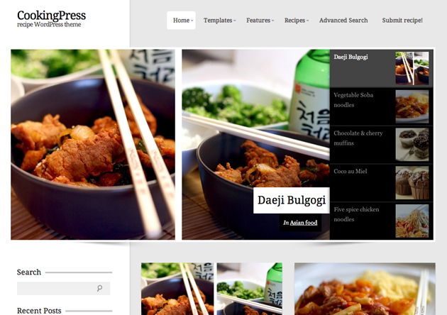 cookingpress template