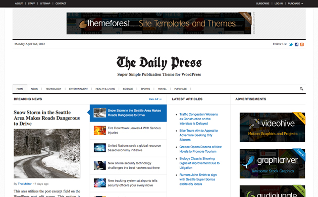 dailypress template