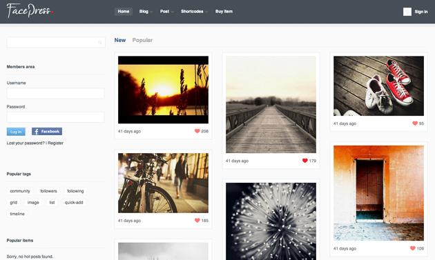 facepress template