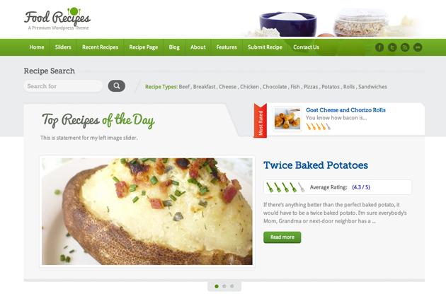 foodrecipes template