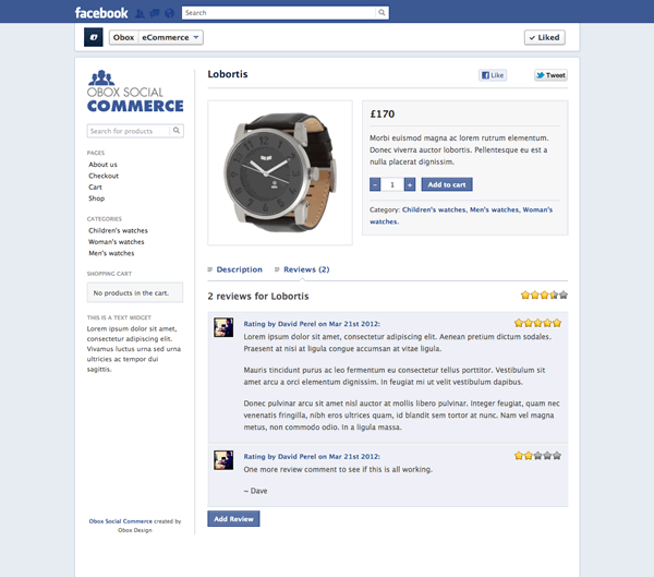 obox social commerce