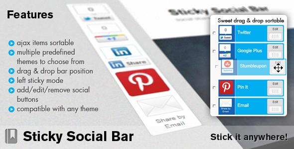 sticky socialbar