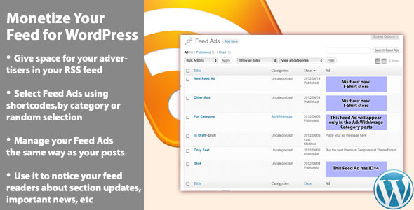 monetize your feed pro