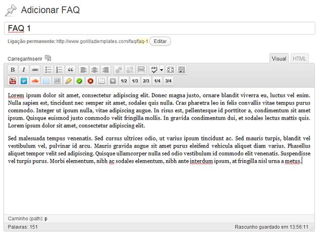 Como criar uma FAQ em WordPress com Custom Post Types