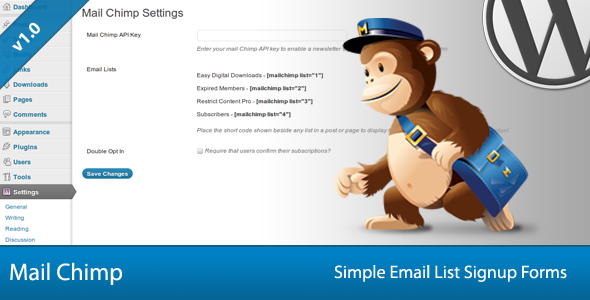 simple mail chimp