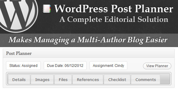 wordpress post planer
