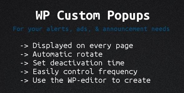 custom popups