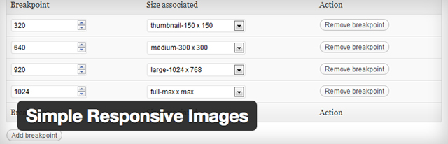 simple responsive images