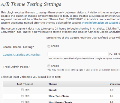 theme testing