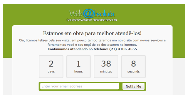 modo manutencao wordpress