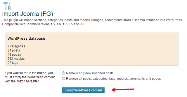 rerun joomla para wordpress