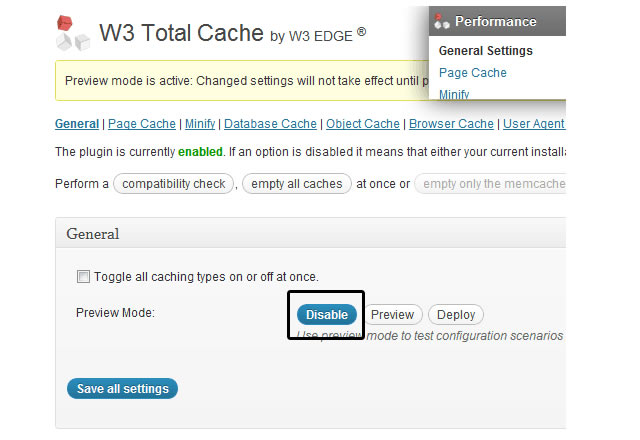 w3 total cache browser