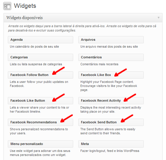 widgets plugin facebook