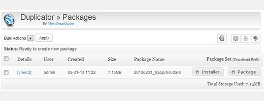 pacote plugin duplicator