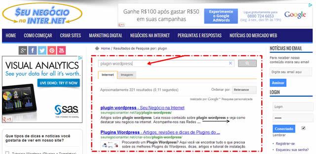 pesquisa google wp