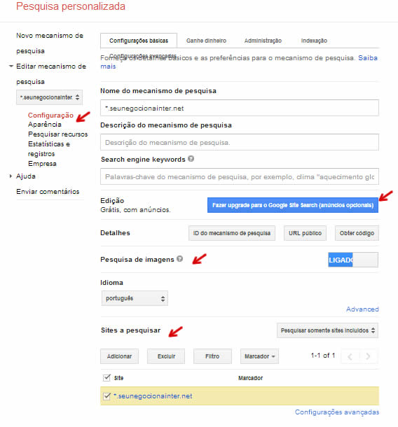 pesquisa pesonalizada google wordpress